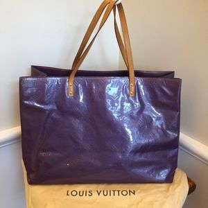 Louis Vuitton Reade Gm Purple Vernis Leather Tote